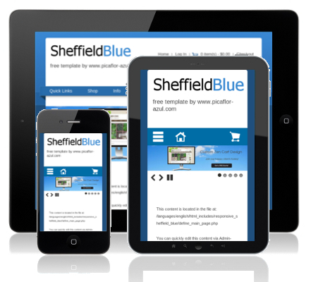 Responsive Sheffield Blue