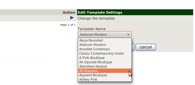 template selection choose Easy Help Zen Cart Tutorial™:  How to Install a New Template