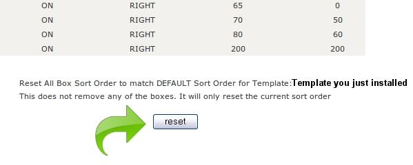 template selection reset sideboxes Easy Help Zen Cart Tutorial™:  How to Install a New Template